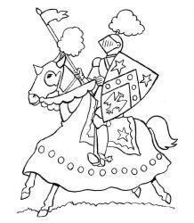 plansa de colorat cavaleri de colorat p16