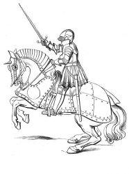 plansa de colorat cavaleri de colorat p17