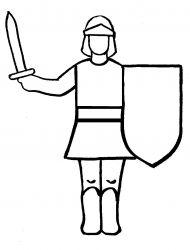 plansa de colorat cavaleri de colorat p19