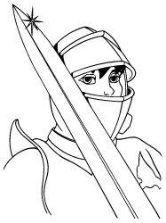 plansa de colorat cavaleri de colorat p20