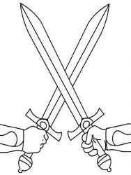 plansa de colorat cavaleri de colorat p21