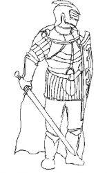 plansa de colorat cavaleri de colorat p23