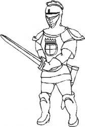 plansa de colorat cavaleri de colorat p24