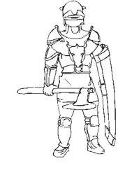 plansa de colorat cavaleri de colorat p25
