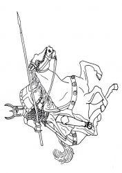 plansa de colorat cavaleri de colorat p28