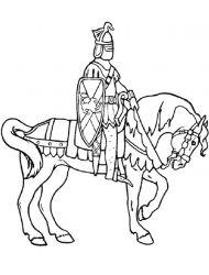 plansa de colorat cavaleri de colorat p29