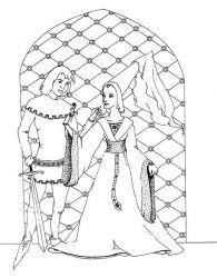 plansa de colorat cavaleri de colorat p30