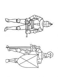 plansa de colorat cavaleri de colorat p35