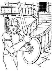plansa de colorat cavaleri de colorat p36