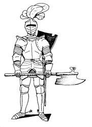 plansa de colorat cavaleri de colorat p37