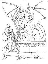 plansa de colorat cavaleri de colorat p38