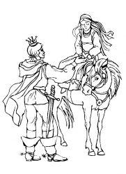 plansa de colorat cavaleri de colorat p39