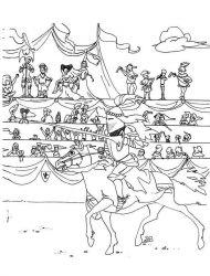 plansa de colorat cavaleri de colorat p42