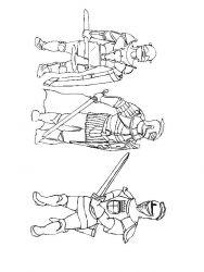 plansa de colorat cavaleri de colorat p43