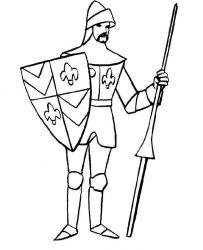 plansa de colorat cavaleri de colorat p44