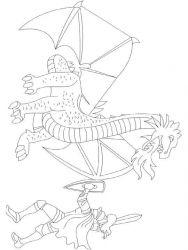 plansa de colorat cavaleri de colorat p45