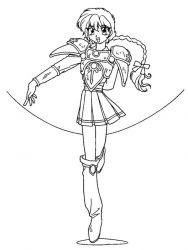 plansa de colorat cavalerul magic rayearth de colorat p03