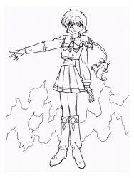 plansa de colorat cavalerul magic rayearth de colorat p07