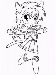 plansa de colorat cavalerul magic rayearth de colorat p08