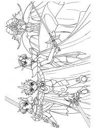 plansa de colorat cavalerul magic rayearth de colorat p12