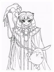 plansa de colorat cavalerul magic rayearth de colorat p14
