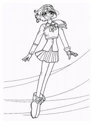 plansa de colorat cavalerul magic rayearth de colorat p16