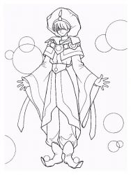 plansa de colorat cavalerul magic rayearth de colorat p21