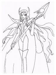 plansa de colorat cavalerul magic rayearth de colorat p22