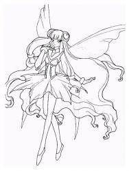 plansa de colorat cavalerul magic rayearth de colorat p26