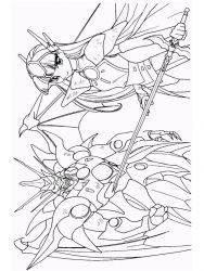 plansa de colorat cavalerul magic rayearth de colorat p28