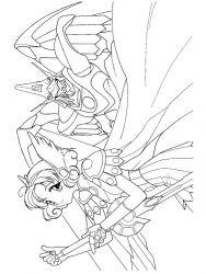 plansa de colorat cavalerul magic rayearth de colorat p29