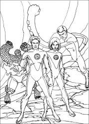 plansa de colorat cei patru fantastici de colorat p52