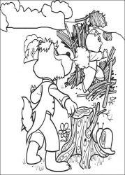 plansa de colorat cei trei purcelusi de colorat p03