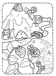 plansa de colorat charlotta cu capsuni de colorat p35