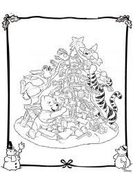 plansa de colorat christmas disney de colorat p07