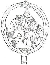 plansa de colorat christmas disney de colorat p08
