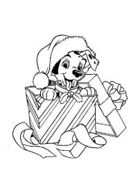 plansa de colorat christmas disney de colorat p28