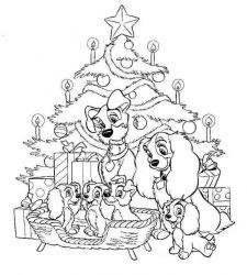 plansa de colorat christmas disney de colorat p32