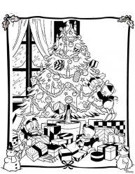 plansa de colorat christmas disney de colorat p36