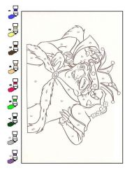 plansa de colorat cocosatul de la notre dame de colorat p21