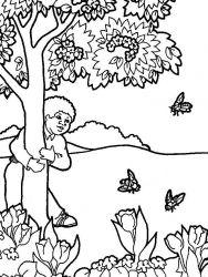 plansa de colorat copaci de colorat p08