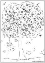 plansa de colorat copaci de colorat p09