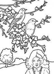 plansa de colorat copaci de colorat p10