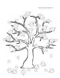 plansa de colorat copaci de colorat p16
