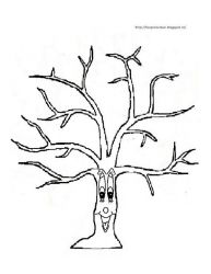 plansa de colorat copaci de colorat p17