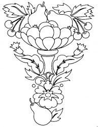 plansa de colorat cos cu fructe de colorat p04
