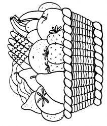 plansa de colorat cos cu fructe de colorat p13