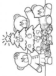 plansa de colorat craciun animale de colorat p07