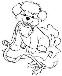 plansa de colorat craciun animale de colorat p17