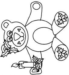 plansa de colorat craciun animale de colorat p21